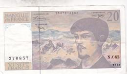 FRANCE 20 FRANCS 1997 / TBE - 20 F 1980-1997 ''Debussy''