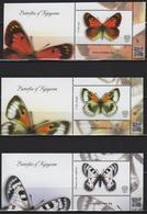 Kyrgyzstan 2019 Set MS 3 Label  Kyrgyz Post MNH Butterflies Butterfly Papillons Papillon - Vlinders