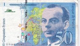 BILLET FRANCE -  50 FRANCS - 1996 - ANTOINE DE ST EXUPERY - - 1992-2000 Laatste Reeks