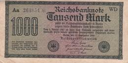 1000 MARK, Berlin 1922, Aa 264834 * WD, Série Etoile - [ 3] 1918-1933 : Repubblica  Di Weimar
