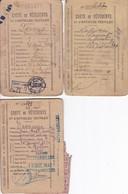 Lot De 3 Cartes Vêtements Et D'Articles Textiles Année 1940 (voir Scan) - Bons & Nécessité