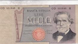ITALIE 1000 LIRE VERDI 1969 / TTB - [ 2] 1946-… : République