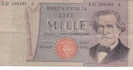 ITALIE 1000 LIRE VERDI 1969 / - [ 2] 1946-… : République
