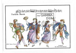 Gambia 1992 - 1993 Anniversaries & Events Dances S/S MNH - Gambie (1965-...)
