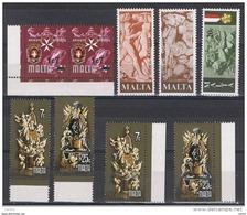 MALTA:  1977/78  COMMEMORATIVI  -  5  S. CPL. N. -  YV/TELL. 540//565 - Malta