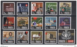MALTA:  1973  DEFINITIVA  -  S. CPL. 15  VAL. N. -  YV/TELL. 459/73 - Malta