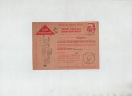 Carte Postale Remboursement Perdrix Sellerie Bourrellerie Polliat 1951 Ronzon St Symphorien Sur Coise - Vecchi Documenti