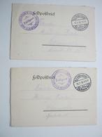 1916 , Ablainzelle , 2  Lettre  Militaire Allemagne - Marcofilie (Brieven)