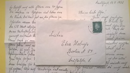 1932 BUSTA E LETTERA GERMANIA GERMANY BOLLO FRIEDRICH EBERT ANNULLO BERLIN DEUTSCHES REICH - Germania