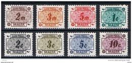 MALTA:  1973  TASSE  -  S. CPL. 8  VAL. N. -  YV/TELL. 41/48 - Malta