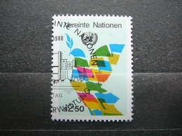 Peace Birds Doves # United Nations UN Vienna Austria 1980 Used #Mi. 8 Symbols U.N.O. - Oblitérés