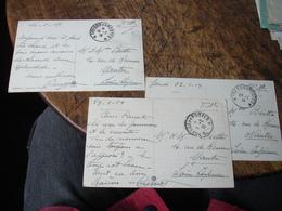 Mot De 3 Carte De Venice Venezia Tresor Et Poste 2 Etoiles Sans Secteur Soldat Francais 1919 - Marcophilie (Lettres)