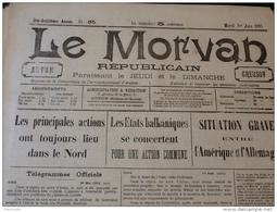 13 JOURNAUX DE JUIN 1915 Guerre 14/18 LE MORVAN RÉPUBLICAIN A VOIR - Français