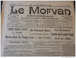 13 JOURNAUX DE AOÛT 1915 Guerre 14/18 LE MORVAN RÉPUBLICAIN / SAÔNE ET LOIRE  A VOIR - Français
