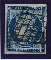 25 C Bleu Foncé TB. - 1849-1850 Ceres