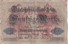 50 MARK, Berlin 1914, M-Nr 3484003 - [ 2] 1871-1918 : Duitse Rijk