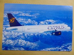CYPRUS AIRWAYS  AIRBUS A 320    AIRLINE ISSUE / CARTE COMPAGNIE - 1946-....: Era Moderna