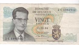 BELGIQUE 20 FRANCS 15/06/1964 - 20 Francs