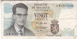 BELGIQUE 20 FRANCS 15/06/1964 - [ 6] Trésorerie