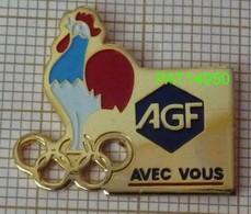JO COQ TRICOLORE  AGF AVEC VOUS  En Version EàF  ANANAS Dorée - Olympische Spiele