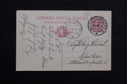 """ITALIE - Oblitération """" Natante Colicocomo """" Sur Entier Postal Pour München En 1913 - L 28562 - 1900-44 Vittorio Emanuele III"""
