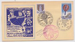 Noisy-le-Grand Cerny Villeneuve-sur-Auvers Enveloppe Commémoration Aumont-Thiéville Aérostation Aviation Ballon Zodiac - Autres (Air)