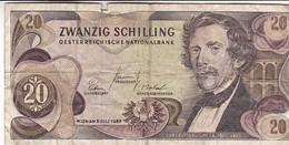 AUTRICHE 20 SCHILLING 1967 - Oesterreich