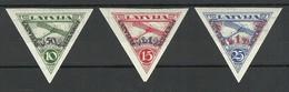 LETTLAND LATVIA 1931 Michel 190 - 192 B * - Lettland
