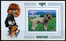 Bhutan 1972, Dogs, Fauna, Animal, Imperf Miniature Sheet, S.G.No MS 276, MNH - Bhutan