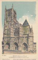 Cp , CARTES , MEAUX (Seine-et-Marne) , CATHÉDRALE SAINT-ÉTIENNE (Façade Ouest) - Cartes