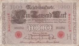 1000 Marck, Berlin 1910, Nr 6617437 E - [ 2] 1871-1918 : German Empire