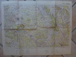 Carte Chalons Epernay Sainte Menehould Vesigneul Montmort Heiltz Possesse Mogneville Juvigny Cheppe La Suippes - Cartes Topographiques