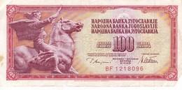 YOUGOSLAVIE 100 Dinara 1968 /TTB - Yougoslavie