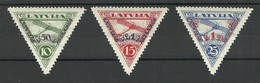 LETTLAND LATVIA 1931 Michel 190 - 192 A * - Lettland