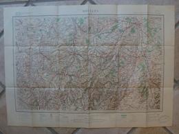 Carte Moulins Dontreix Montluçon Boussac Abrest Aubusson Huriel Malicorne Jaleches Viplaix Chateau Meillant - Cartes Topographiques