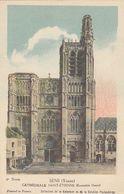 Cp , CARTES ,SENS (Yonne) , CATHÉDRALE SAINT-ÉTIENNE (Ensemble Ouest) - Cartes