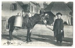 MONT-DORE (63, Puy De Dôme) - Un Jeune Laitier Et Sa Monture - âne - Beau Gros Plan - L'Auvergne 1904 - France