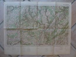 Carte Longwy Arlon Luxembourg Bettembourg NennigRemich Houdemont Saarburg Mersch Trier Rossignol - Cartes Topographiques