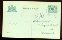 HANDGESCHREVEN BRIEFKAART Uit 1922 Van LOKAAL DIRKSLAND  (11.546o) - Postal Stationery