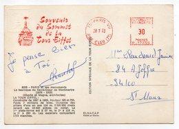 EMA--PARIS VII --Souvenir Du Sommet De La Tour Eiffel --1973--MA N° P 17355..........à Saisir - Poststempel (Briefe)