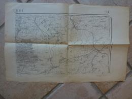 Carte Rocroi Marienbourg Cerfontaine Villers Deux Eglises Froidechapelle Rance Monbliart - Cartes Topographiques
