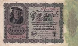 50 000 Mark, Berlin 1922, C-02970842 - [ 3] 1918-1933 : Repubblica  Di Weimar