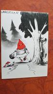 AMANITA MUSHROOM  -  Champignon - Modern Postcard - HUMOUR - LITTLE RED RIDING HOOD - Funghi