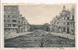 CPA - Belgique - Oostende - Ostende - Avenue Léopold, Vue Sur L'horloge Fleurie - Oostende