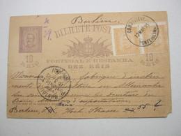 1895 , Bilhete Postal  A  Allemanha - Enteros Postales