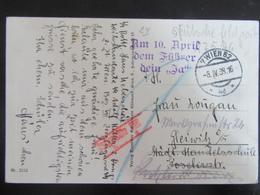 Postkarte SS Feldpost Anschluss Österreich Leibstandarte Adolf Hitler 08.04.1938! LSAH Rottenführer Wien - R! - Briefe U. Dokumente
