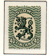 PIA - FINLANDIA - 1921-29  : Uso Corrente - Stemma  (Yv 102) - Unused Stamps