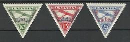 LETTLAND LATVIA 1931 Michel 190 - 192 A * - Lettonie