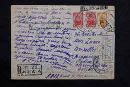 U.R.S.S. - Affranchissement En Recommandé De Kiev Sur Carte Postale De Moscou Pour Bruxelles En 1961 - L 28581 - 1923-1991 USSR