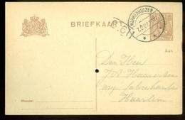 HANDGESCHREVEN BRIEFKAART Uit 1922 Van WARMENHUIZEN Naar HAARLEM (11.547c) - Postwaardestukken